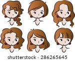 woman's hairstyle | Shutterstock .eps vector #286265645
