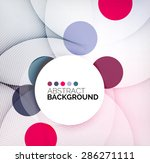 colorful circles modern... | Shutterstock . vector #286271111
