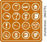 Web and Computing icons. Raster version - stock photo