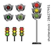 traffic lights set and walk...   Shutterstock .eps vector #286277951