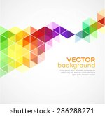 color geometric background with ...   Shutterstock .eps vector #286288271