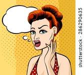 woman face with speech bubble...   Shutterstock . vector #286290635