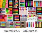 colorful modern text box... | Shutterstock .eps vector #286302641