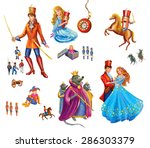 set cartoon characters  for