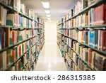 library hall in a high school ... | Shutterstock . vector #286315385