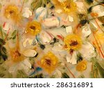 Daffodils  Abstract Yellow...