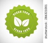 vegan food design  vector...   Shutterstock .eps vector #286321001