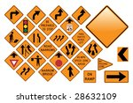 road sign set   emergency | Shutterstock .eps vector #28632109