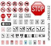 road sign set   regulatory | Shutterstock .eps vector #28632112