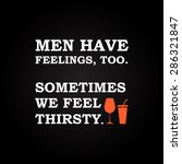 men have feelings   funny... | Shutterstock .eps vector #286321847