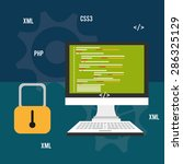 software design over blue... | Shutterstock .eps vector #286325129
