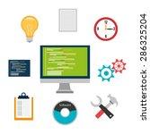 software design over white... | Shutterstock .eps vector #286325204