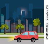 urban design over cityscape... | Shutterstock .eps vector #286328141