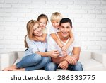 parents  kids  smile. | Shutterstock . vector #286333775