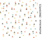 tribal pattern   triangles | Shutterstock .eps vector #286334921