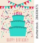 happy birthday | Shutterstock .eps vector #286336571