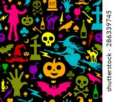 seamless halloween background | Shutterstock .eps vector #286339745