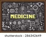 doodles about medicine on... | Shutterstock .eps vector #286342649