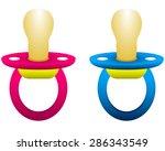dummy for girls and boys | Shutterstock . vector #286343549