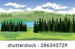 illustration of beauty... | Shutterstock .eps vector #286343729