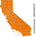 map of california   Shutterstock .eps vector #286344014