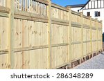 Wood Fence In A Housing...