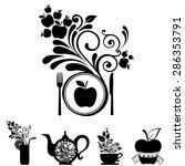 healthy food. vegetarian menu.... | Shutterstock .eps vector #286353791