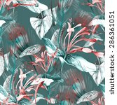 tropical seamless pattern | Shutterstock . vector #286361051