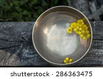 Yellow Flowers Floating In A...