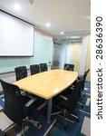 view of modern meeting room... | Shutterstock . vector #28636390