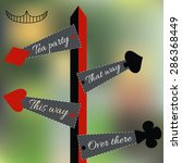 alice set of four arrow signs...   Shutterstock .eps vector #286368449