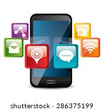 apps design over white... | Shutterstock .eps vector #286375199