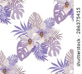 tropical background with orchid ... | Shutterstock .eps vector #286375415