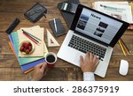 morning digesting of news. man... | Shutterstock . vector #286375919