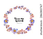 watercolor floral frames | Shutterstock . vector #286383767