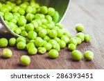Green Pea Scattered On The...