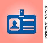 identification card icon. flat...