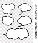 set of 5 vector talking bubbles ... | Shutterstock .eps vector #286399919