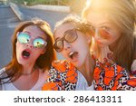 Close Up Portrait Of Group Of...