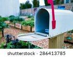 An Open Mailbox In Garden
