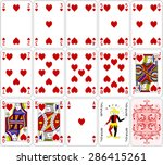 Poker Cards Heart Set Four...