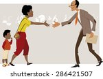 black woman with a little boy... | Shutterstock .eps vector #286421507