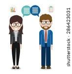 entrepreneur design over white... | Shutterstock .eps vector #286423031