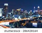 abstract blur bokeh city night... | Shutterstock . vector #286428164