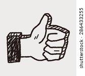 doodle thumbs up | Shutterstock .eps vector #286433255