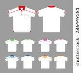 vector set of polo shirts ... | Shutterstock .eps vector #286449281