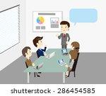business team meeting   Shutterstock .eps vector #286454585