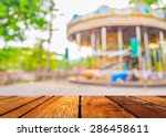 blur image of roundabout in... | Shutterstock . vector #286458611