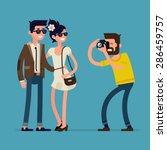 vector creative character... | Shutterstock .eps vector #286459757