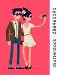 cool flat character design on... | Shutterstock .eps vector #286461191